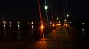 砂沼大橋の明り
