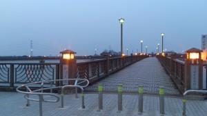 砂沼大橋のライトアップ