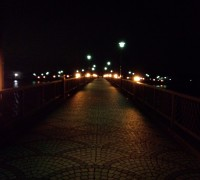 夜の砂沼大橋