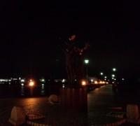 夜の飛翔像