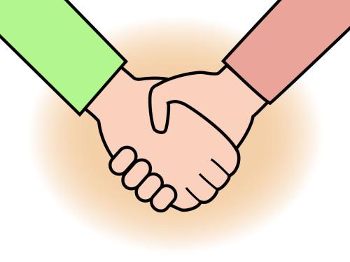 手と手をとりあう